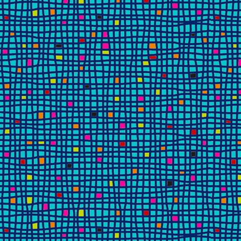 Wacky Weave - Aqua fabric by hayley_sayles on Spoonflower - custom fabric