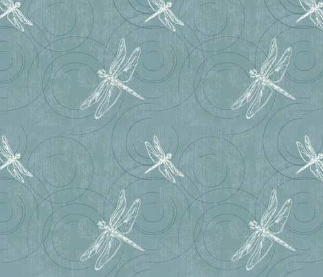 Lucid_puddles_ms_Ellise fabric by ms_ellise_ on Spoonflower - custom fabric