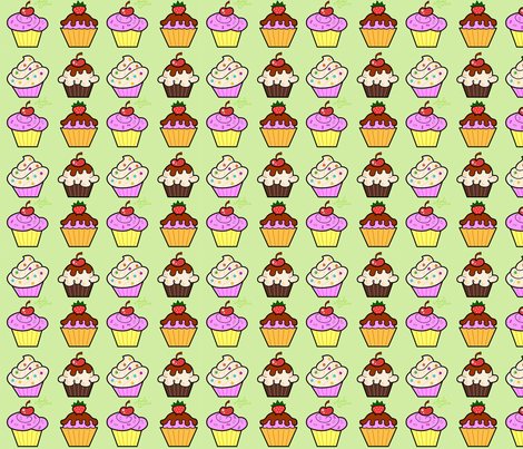 Cupcakes fabric by andybauer on Spoonflower - custom fabric