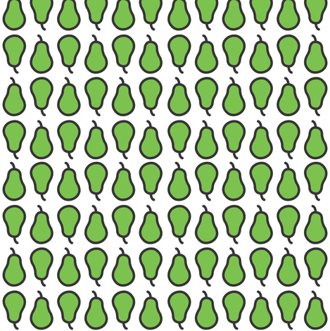 Green Pears fabric by ankepanke on Spoonflower - custom fabric