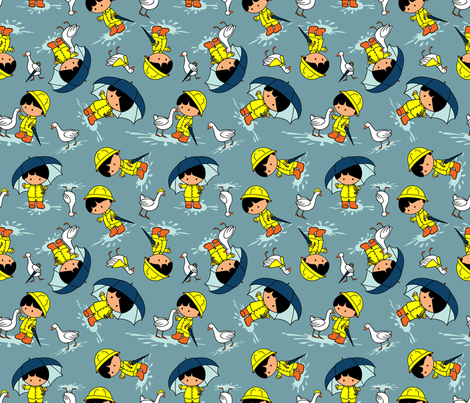 Splish-Splash (please zoom for detail) fabric by jmckinniss on Spoonflower - custom fabric