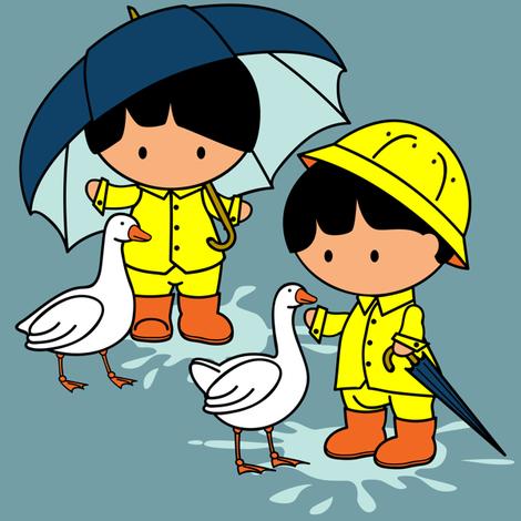 Splish Splash Characters only fabric by jmckinniss on Spoonflower - custom fabric
