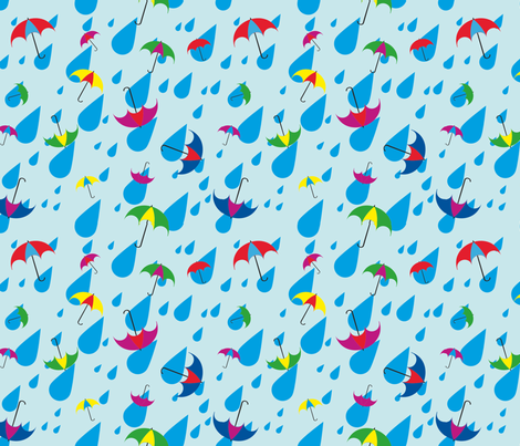 Umbrellas Large fabric by chippanfire on Spoonflower - custom fabric