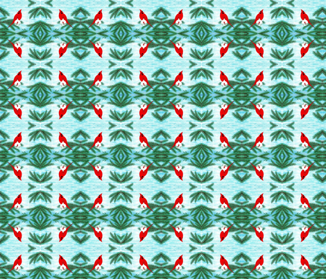 A_Cardinal_to_Remember__A_Christmas_to_Remember fabric by doug_miller on Spoonflower - custom fabric