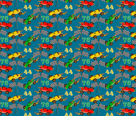Liam's speedway-alt color fabric by littlerhodydesign on Spoonflower - custom fabric