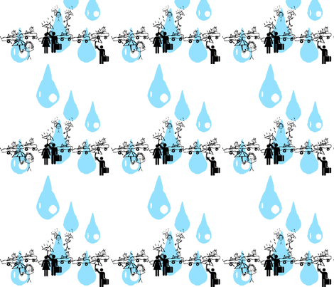 A day in the rain fabric by etrain on Spoonflower - custom fabric
