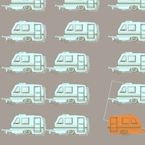 "CAMPER LOT in ""STONE, WATER & TANGERINE"""