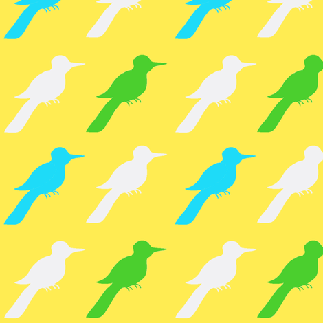 sunshine bluebird ©2012 Jill Bull fabric by fabricfarmer_by_jill_bull on Spoonflower - custom fabric