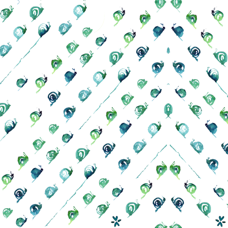 C'EST LA VIV™ SNIPS & SNAILS Collection_SNAIL TRAIL fabric by cest_la_viv on Spoonflower - custom fabric
