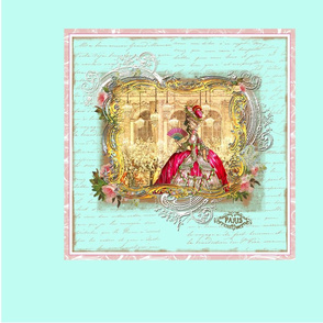 Marie Antoinette Versailles Party Pillow Panel