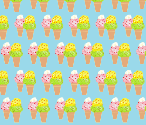 ice_cream fabric by frances_hollidayalford on Spoonflower - custom fabric