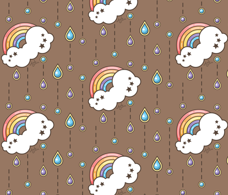 Rainbow Rain fabric by andybauer on Spoonflower - custom fabric