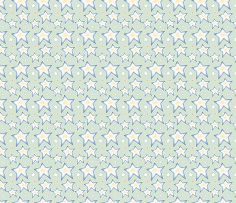Green Stars fabric by leslipepper on Spoonflower - custom fabric