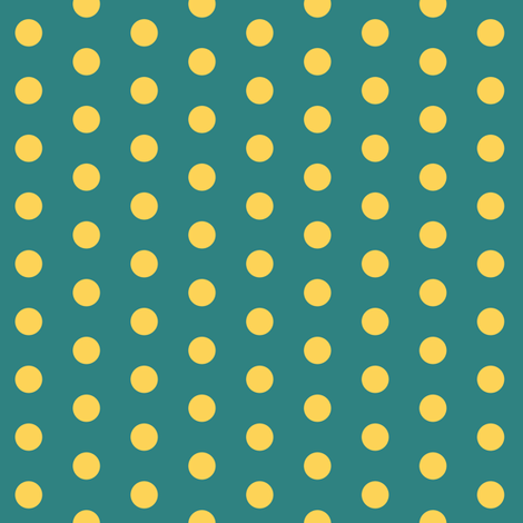 Golden Polkadot fabric by pond_ripple on Spoonflower - custom fabric
