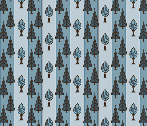 Blue Forest fabric by crowcreative on Spoonflower - custom fabric
