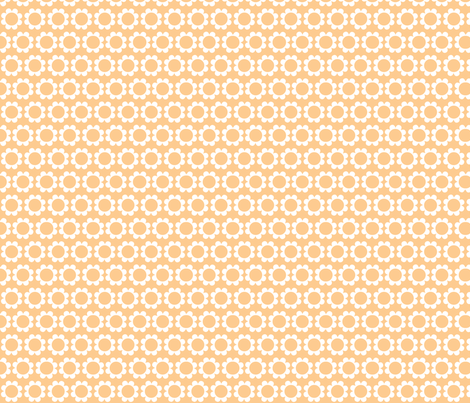 daisysweet orange fabric by myracle on Spoonflower - custom fabric