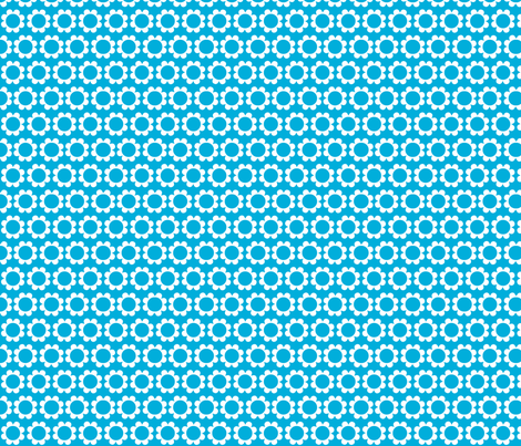 daisysweet blue fabric by myracle on Spoonflower - custom fabric