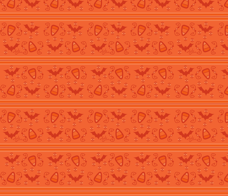 Bats & Candy Corn fabric by andybauer on Spoonflower - custom fabric