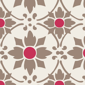 flower tile hotpink