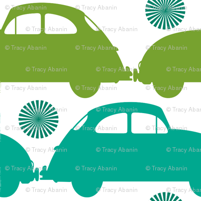 love bug turquoise and green