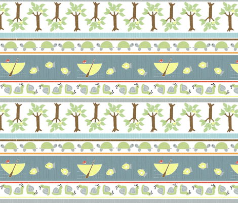 country gathering stripe fabric by christiem on Spoonflower - custom fabric