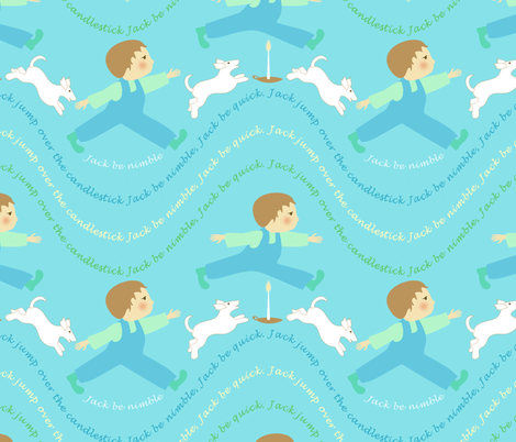 Lullaby: Jack be nimble fabric by vo_aka_virginiao on Spoonflower - custom fabric
