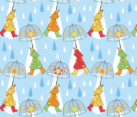 Rain_drops_are_falling fabric by cjldesigns on Spoonflower - custom fabric