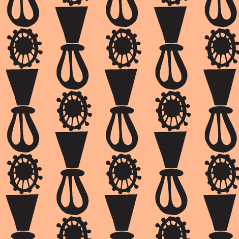 Auntie Stripes on Peach fabric by boris_thumbkin on Spoonflower - custom fabric