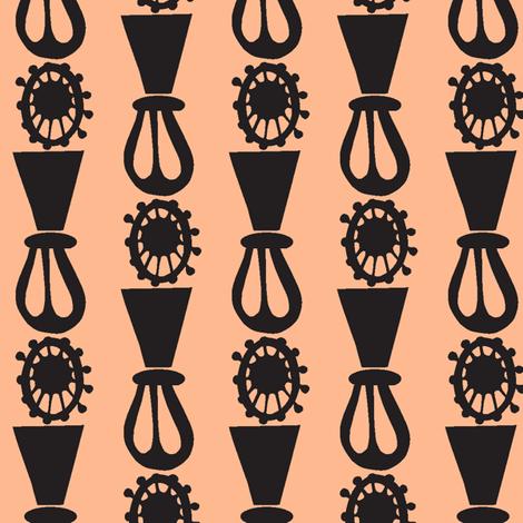 Auntie Stripes on Peach fabric by boris_thumbkin on Spoonflower - custom fabric