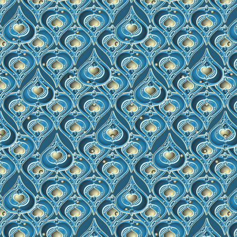 ©2011 bluepear3 fabric by glimmericks on Spoonflower - custom fabric