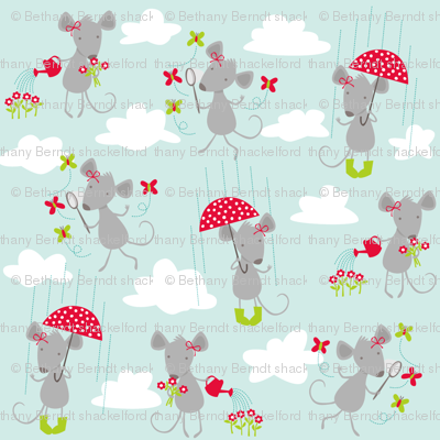 Milly Mouse in the Rain