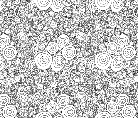 Simple Rain - Colouring in - REVISED VERSION fabric by wiccked on Spoonflower - custom fabric