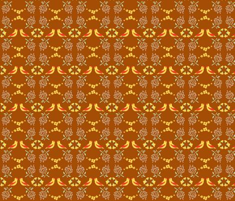 Birds and Flowers (II) fabric by something_nice on Spoonflower - custom fabric