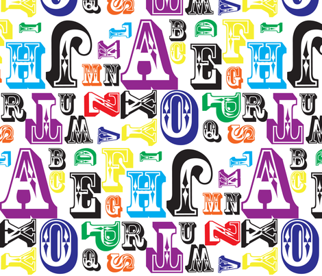 jewel letters fabric by inmode on Spoonflower - custom fabric