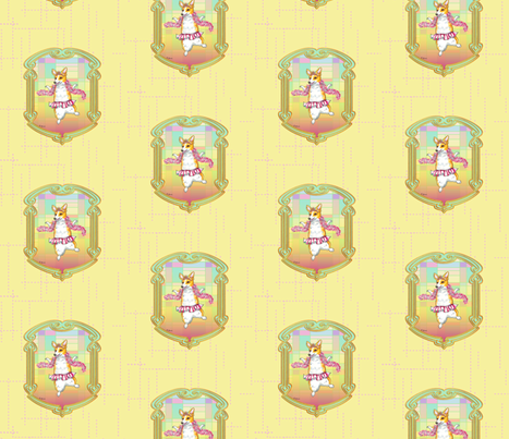 Dancing Corgi Tutu fabric by greerdesign on Spoonflower - custom fabric