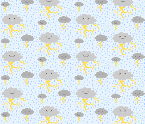 Stormy Weather fabric by kaijusmall on Spoonflower - custom fabric