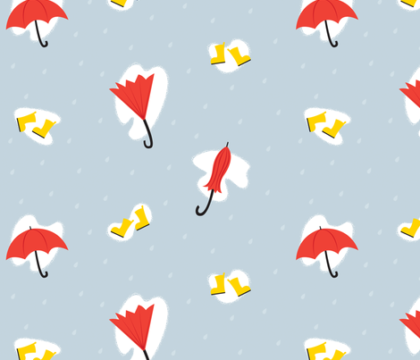 Galoshes Galore fabric by amy_pie on Spoonflower - custom fabric