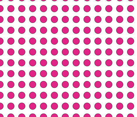 cerise dots fabric by suziedesign on Spoonflower - custom fabric