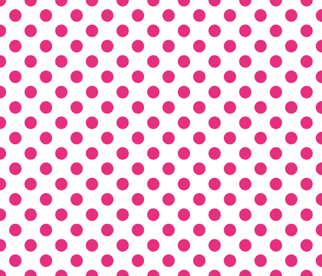 pink polka dot fabric by artsycanvasgirl on Spoonflower - custom fabric