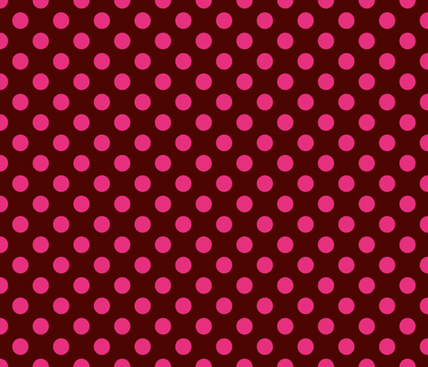 chocolate brown & pink polkadot fabric by artsycanvasgirl on Spoonflower - custom fabric