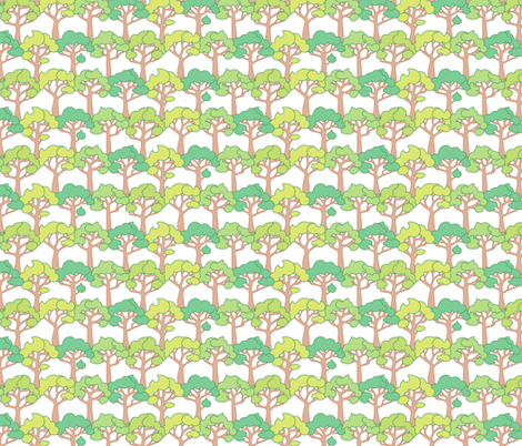 Safari Little Trees fabric by jillianmorris on Spoonflower - custom fabric
