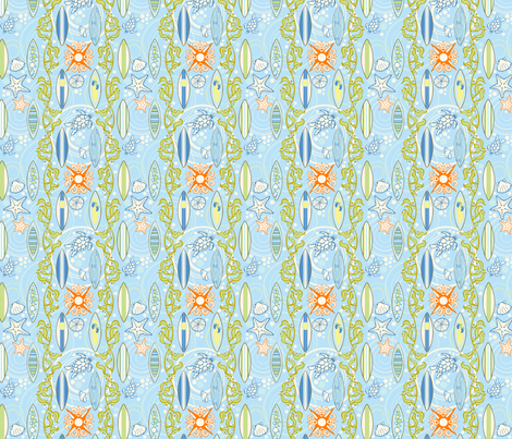 Surf Boy-small fabric by flyingtreestudios on Spoonflower - custom fabric