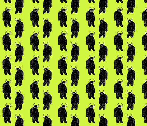 Lime Yeti fabric by pond_ripple on Spoonflower - custom fabric