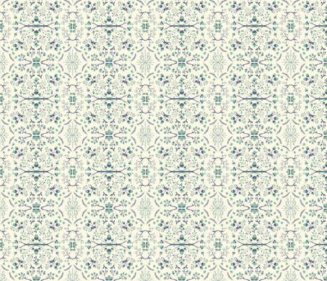 Acorn Damask fabric by something_nice on Spoonflower - custom fabric