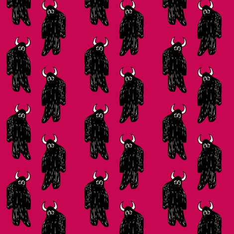 Fuchsia Yeti fabric by pond_ripple on Spoonflower - custom fabric