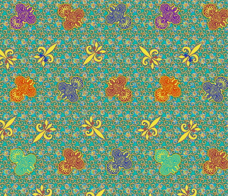 ©2011 FDL - Ornate 2 fabric by glimmericks on Spoonflower - custom fabric