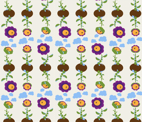 Rain Dance Flower fabric by doodletrain on Spoonflower - custom fabric