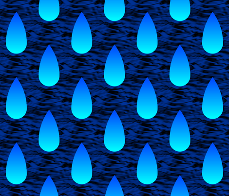 Cherenkov rain fabric by sef on Spoonflower - custom fabric