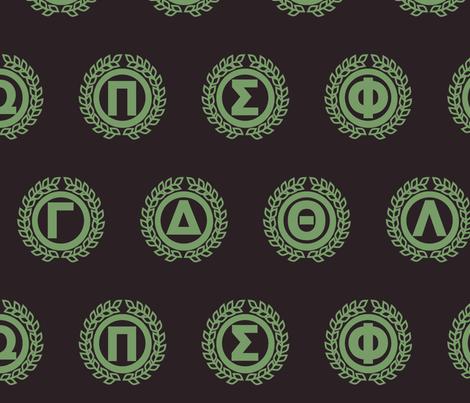 Greek Emblem fabric by shirayukin on Spoonflower - custom fabric