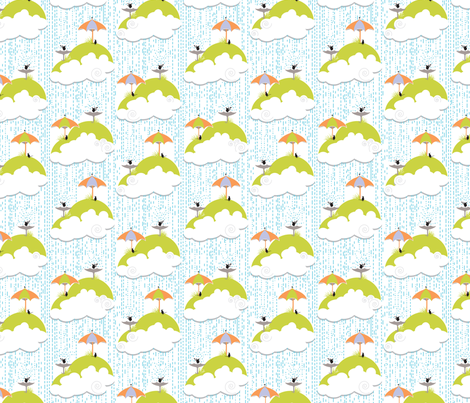 Rain Rain fabric by create_shades on Spoonflower - custom fabric